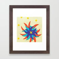 Fireworks Flower Framed Art Print