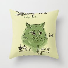 Smelly cat Throw Pillow
