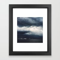 Dark Waves  Framed Art Print