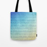 Watercolor Music Tote Bag