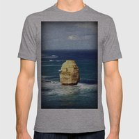 Limestone Rock Mens Fitted Tee Athletic Grey SMALL