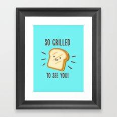 Cheesy Greetings! Framed Art Print
