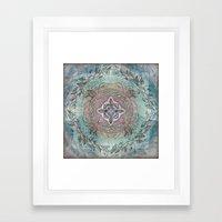 the four directions, a medicine wheel Framed Art Print
