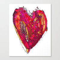 Funky Heart Canvas Print