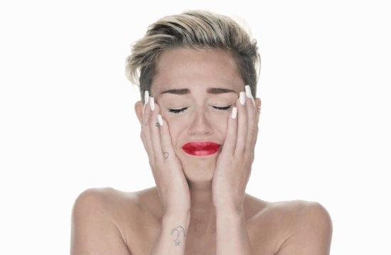 Crying Miley Cyrus Art Print