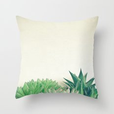 Succulent Forest Throw Pillow