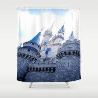 Disney Castle In Color Shower Curtain