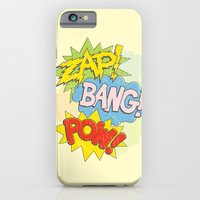 iPhone & iPod Case featuring Zap! Bang! Pow! by Tom Burns