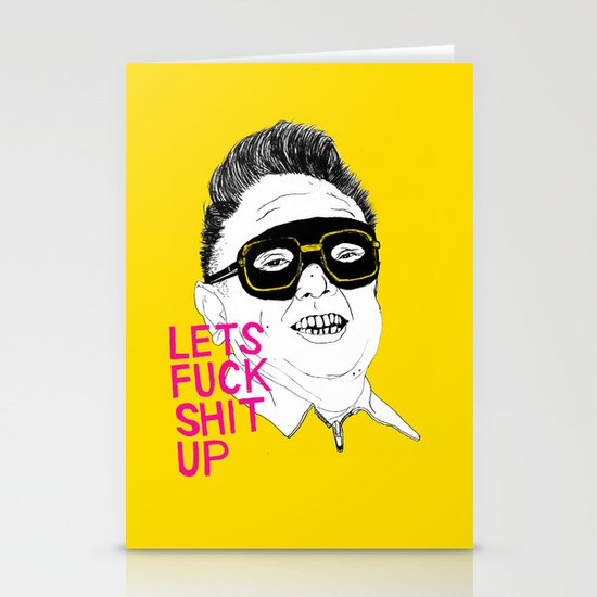 F*ck Sh*t Up Stationery Card