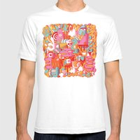 ABSTRACT 0017 Mens Fitted Tee White SMALL