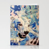 polar bear Stationery Cards featuring Polar Bear by Michael Hammond