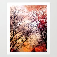AUTUMN DUSK Art Print