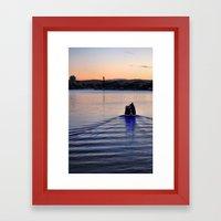Boat man Framed Art Print