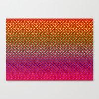Regenbogenherzen - Rainb… Canvas Print