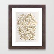 Gold Branches Framed Art Print