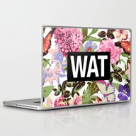 Laptop & iPad Skin featuring WAT by Text Guy