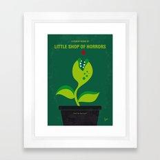 No611 My Little Shop of Horrors minimal movie poster Framed Art Print