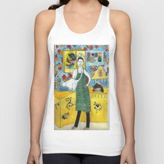 in the kitchen Unisex Tank Top