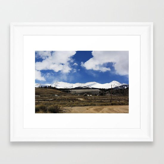Dirt Road Framed Art Print