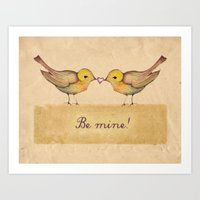 Be mine! Valentine day... Art Print