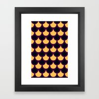 Scallop Pattern Framed Art Print