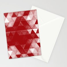 pattern red Stationery Cards