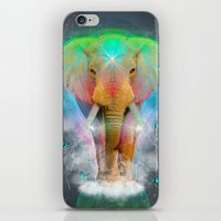 Nothing Is So Strong As Gentleness (Neon Elephant v. 2) iPhone & iPod Skin