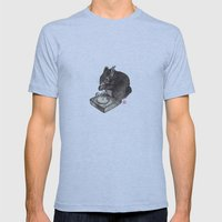 DJ Squirrel Mens Fitted Tee Athletic Blue SMALL