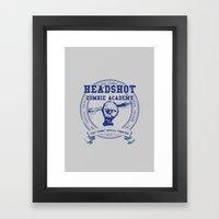 Headshot Zombie Academy Framed Art Print