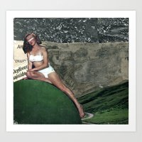 Monroe Collage Art Print