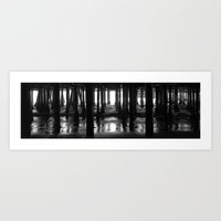 Under The Boardwalk Art Print
