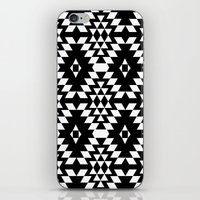 Aztec Inspired Pattern White & Black iPhone & iPod Skin