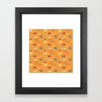 Hipster Pattern Framed Art Print