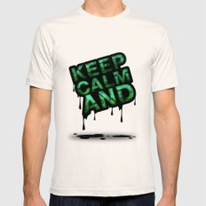 Keep Calm And.... Mens Fitted Tee Natural SMALL