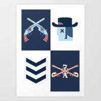 Cowboy Vs Apache Art Print