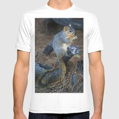 Mr. Squirrel! White Mens Fitted Tee SMALL