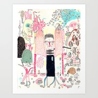 Cafe Stay In  Art Print