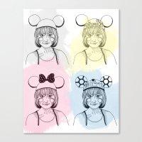 Mouse Ears Canvas Print