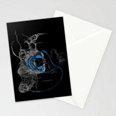 Blue Headphones Stationery Cards