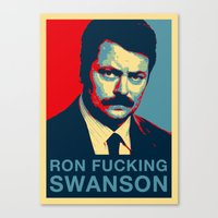 Ron F***ing Swanson Canvas Print