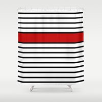 Simple Shapes Series Shower Curtain