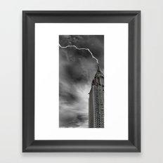 Chrysler Building Lightning Strike Framed Art Print