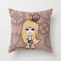 Steampunk Sailor Venus - Sailor Moon Throw Pillow