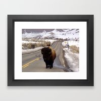 Montana Traffic Jam Framed Art Print