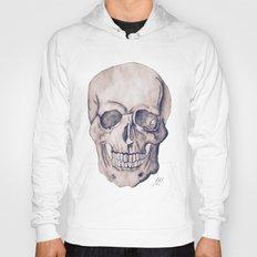 Black & White Skull Water Colour Hoody