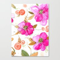 All-Pink Double Spring Floral Canvas Print