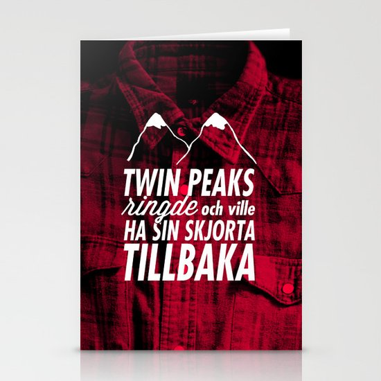 Twin Peaks Ringde Stationery Card