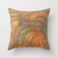 Drawing Meditation Stenc… Throw Pillow