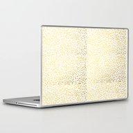 Laptop & iPad Skin featuring Gold Fleck Modern Art Mi… by CharlotteWinter