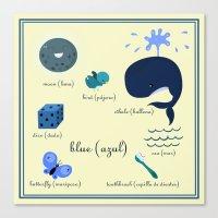 Colors: Blue (Los Colore… Canvas Print